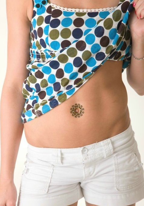 Bijoux De Nombril bindi autocollant bijoux de peau pour nombril - bijou hindou pour le